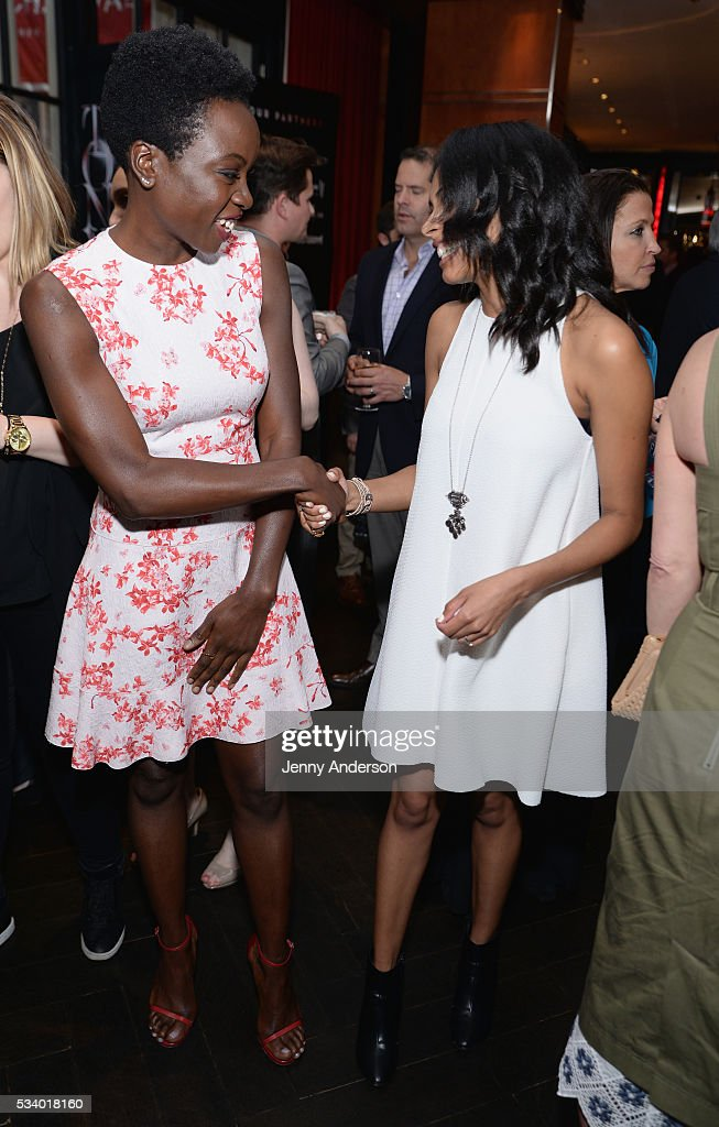 <a gi-track='captionPersonalityLinkClicked' href=/galleries/search?phrase=Danai+Gurira&family=editorial&specificpeople=4488413 ng-click='$event.stopPropagation()'>Danai Gurira</a> (L) and Nicolette Robinson arrive at A Toast To The 2016 Tony Awards Creative Arts Nominees at The Lambs Club on May 24, 2016 in New York City.