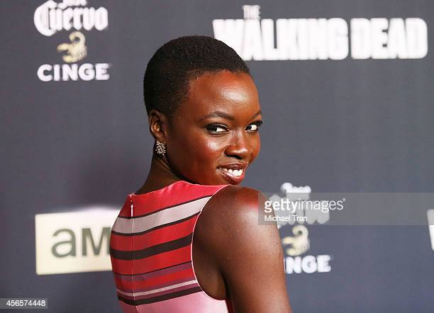 Danai Gurira arrives at AMC's 'The Walking Dead' Season 5 Premiere held at AMC Universal City Walk on October 2 2014 in Universal City California