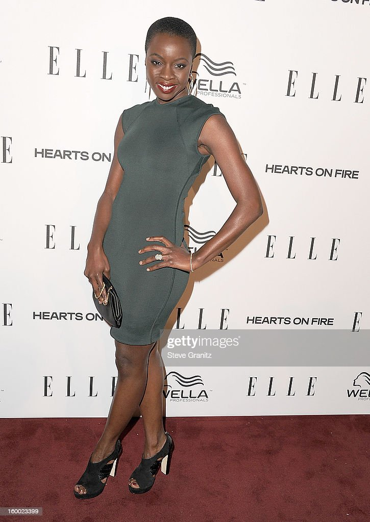 Danai Gurira arrives at the ELLE's 2nd Annual Women In Television Celebratory Dinner at Soho House on January 24, 2013 in West Hollywood, California.