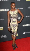Danai Gurira arrives at the Los Angeles premiere of AMC's 'The Walking Dead' 4th season held at Universal CityWalk on October 3 2013 in Universal...