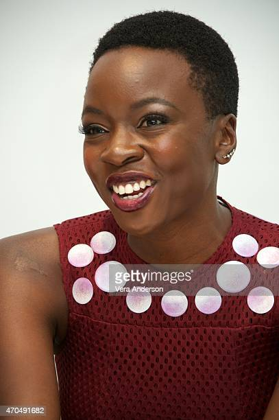 Danai Gurira at 'The Walking Dead' Press Conference at the Four Seasons Hotel on April 20 2015 in Beverly Hills California