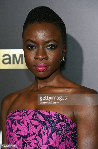 Danai Gurira attends AMC's 'The Walking Dead' Season 6 Fan Premiere Event 2015 at Madison Square Garden on October 9 2015 in New York City