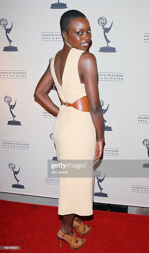 Danai Gurira attends an evening with 'The Walking Dead' presented by The Academy Of Television Arts & Sciences at Leonard H. Goldenson Theatre on February 5, 2013 in North Hollywood, California.