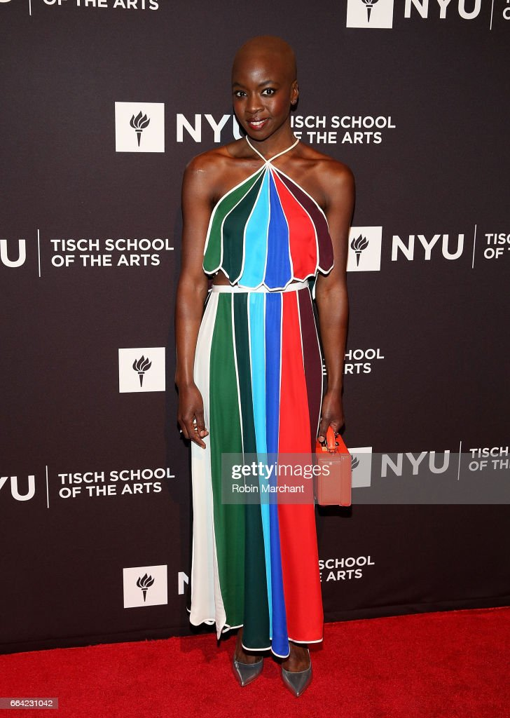Danai Gurira attends NYU Tisch School of the Arts' 2017 Gala at Cipriani 42nd Street on April 3, 2017 in New York City.