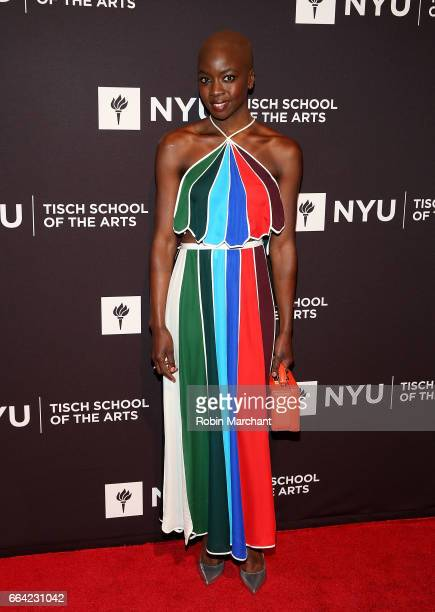 Danai Gurira attends NYU Tisch School of the Arts' 2017 Gala at Cipriani 42nd Street on April 3 2017 in New York City