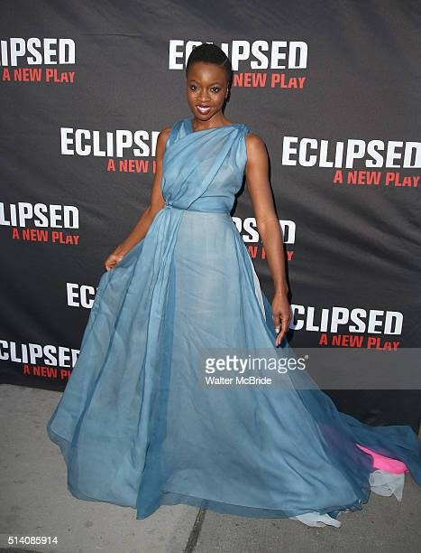 Danai Gurira attends the Broadway opening night performance of 'Eclipsed' at Golden Theatre on March 6 2016 in New York City