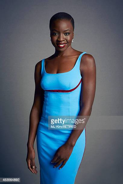 Danai Gurira poses for a portrait at the Getty Images Portrait Studio powered by Samsung Galaxy at ComicCon International 2014 on July 24 2014 in San...