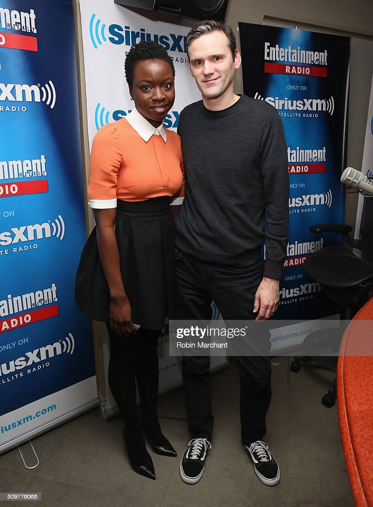 <a gi-track='captionPersonalityLinkClicked' href=/galleries/search?phrase=Danai+Gurira&family=editorial&specificpeople=4488413 ng-click='$event.stopPropagation()'>Danai Gurira</a> visits Entertainment Weekly Radio with host Dalton Ross at SiriusXM Studios on February 12, 2016 in New York City.