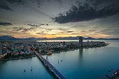 Danang City at Sunset
