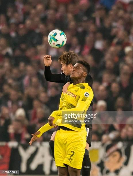 DanAxel Zagadou of Borussia Dortmund in action during the Bundesliga match between VfB Stuttgart and Borussia Dortmund at MercedesBenz Arena on...