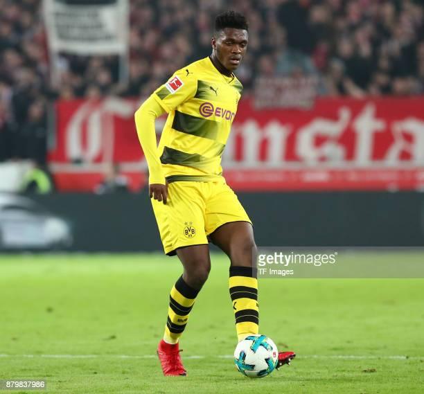 DanAxel Zagadou of Dortmund controls the ball during the Bundesliga match between VfB Stuttgart and Borussia Dortmund at MercedesBenz Arena on...