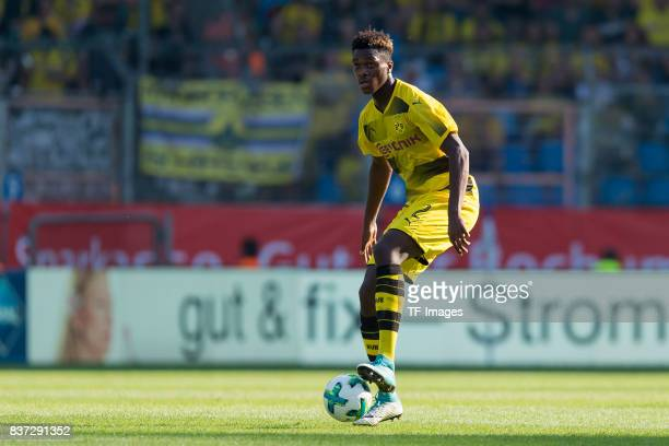 DanAxel Zagadou of Dortmund controls the ball during the preseason friendly match between VfL Bochum and Borussia Dortmund at Vonovia Ruhrstadion on...