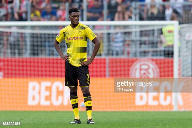DanAxel Zagadou of Dortmund looks on during the preseason friendly match between RotWeiss Essen and Borussia Dortmund at Stadion Essen on July 11...