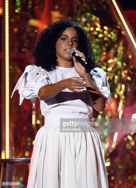 Danay Suarez performs onstage at the 18th Annual Latin Grammy Awards at MGM Grand Garden Arena on November 16 2017 in Las Vegas Nevada