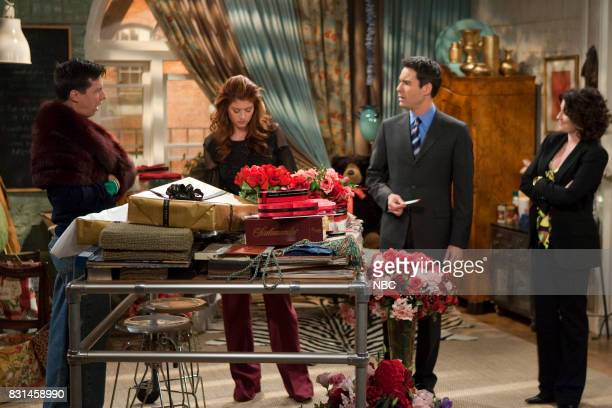 WILL GRACE 'Dance Cards Greeting Cards' Episode 16 Pictured Sean Hayes as Jack McFarland Debra Messing as Grace Adler Eric McCormack as Will Truman...