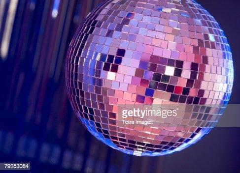 A dance club mirror ball
