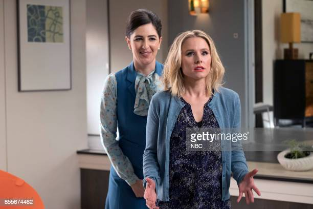PLACE 'Dance Dance Resolution' Episode 203 Pictured D'Arcy Carden as Janet Kristen Bell as Eleanor Shellstrop