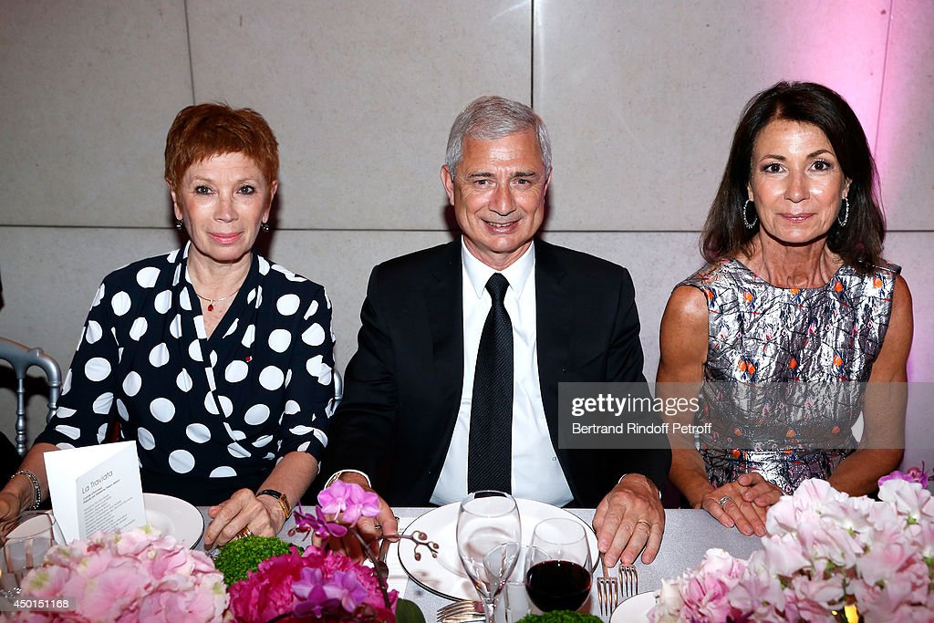 Dance Director of the 'Opera de Paris' Brigitte Lefevre, President of the National Assembly <a gi-track='captionPersonalityLinkClicked' href=/galleries/search?phrase=Claude+Bartolone&family=editorial&specificpeople=551950 ng-click='$event.stopPropagation()'>Claude Bartolone</a> and Chair of the Honorary Committee of the Gala Valerie Breton attend the AROP Charity Gala with play of 'La Traviata'. Held at Opera Bastille on June 5, 2014 in Paris, France.