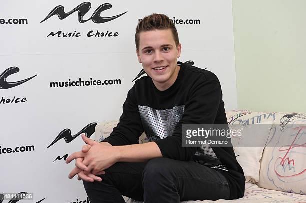 Dance EDM artist Felix Jaehn visits at Music Choice on August 18 2015 in New York City