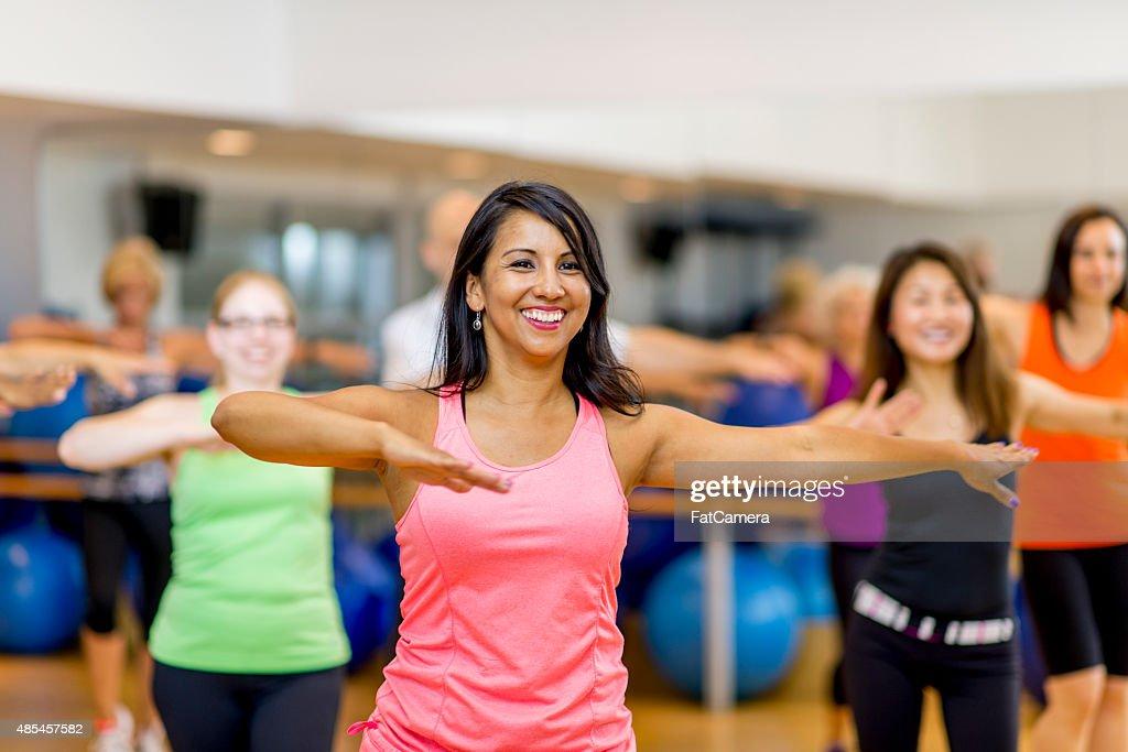 Dance Fitness Gym Class : Stock Photo