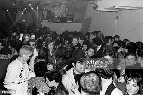 Dance floor at Pravda on Crosby St in SoHo New York New York November 8 1979 The first event was a party for Wet Magazine and a Fiorucci fashion show...