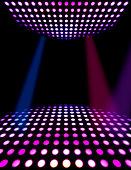 Dance floor disco poster background