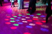 Dotted dance floor lights