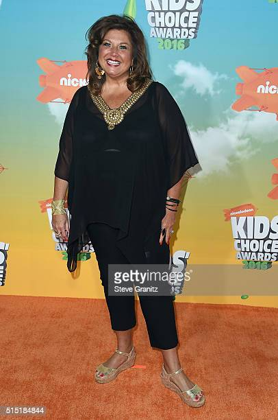 Dance instructor Abby Lee Miller attends Nickelodeon's 2016 Kids' Choice Awards at The Forum on March 12 2016 in Inglewood California