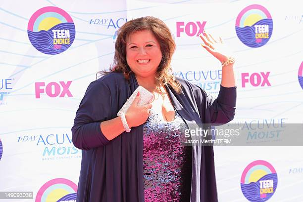 'Dance Moms' Coach Abby Lee Miller arrives at the 2012 Teen Choice Awards at Gibson Amphitheatre on July 22 2012 in Universal City California