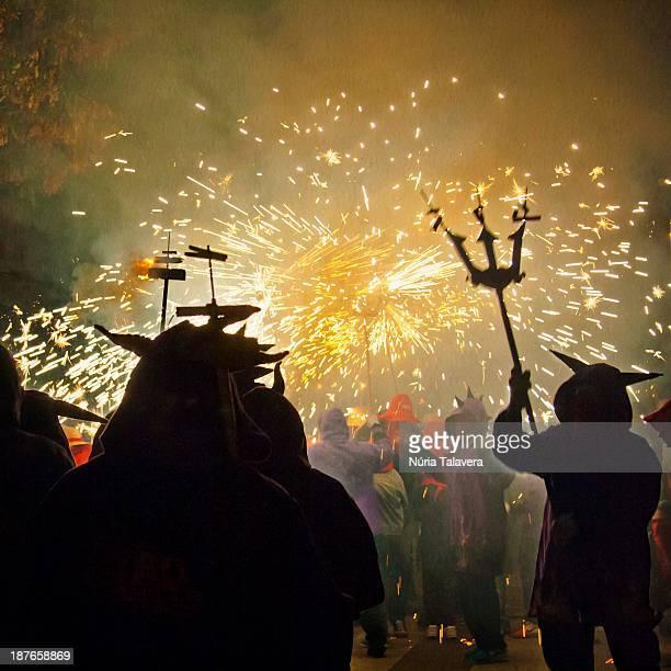 Dance of devils in the Correfoc