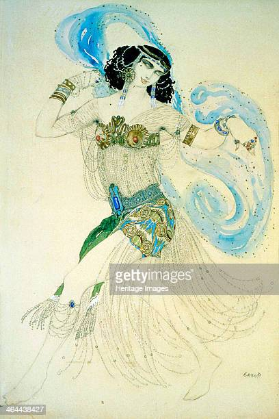 'Dance of the Seven Veils' 1908 Costume design for the play Salome by Oscar Wilde Found in the collection of the State Tretyakov Gallery Moscow