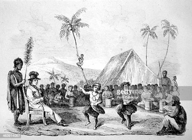 'Dance of the Two Children Hawaii' 19th century
