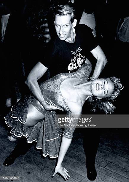 Dance partners Sonia Kruger and Ray Matter win the Dirty Dancing competition at Kings Cross in Sydney 12 February 1988 SMH Picture by Palani Mohan