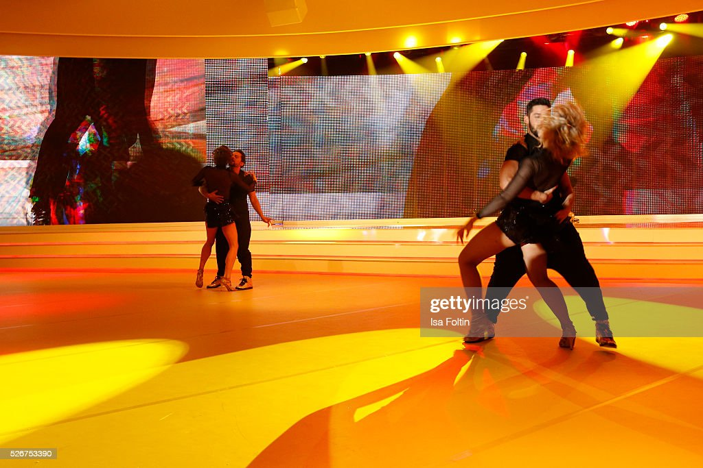 Dance performance during the Rosenball 2016 on April 30, 2016 in Berlin, Germany.