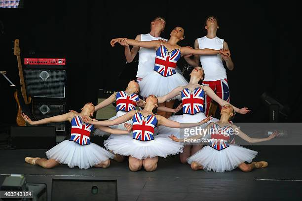 Dance School of Distinction perform during the Opening Ceremony ahead of the ICC 2015 Cricket World Cup at the Myer Music Bowl on February 12 2015 in...