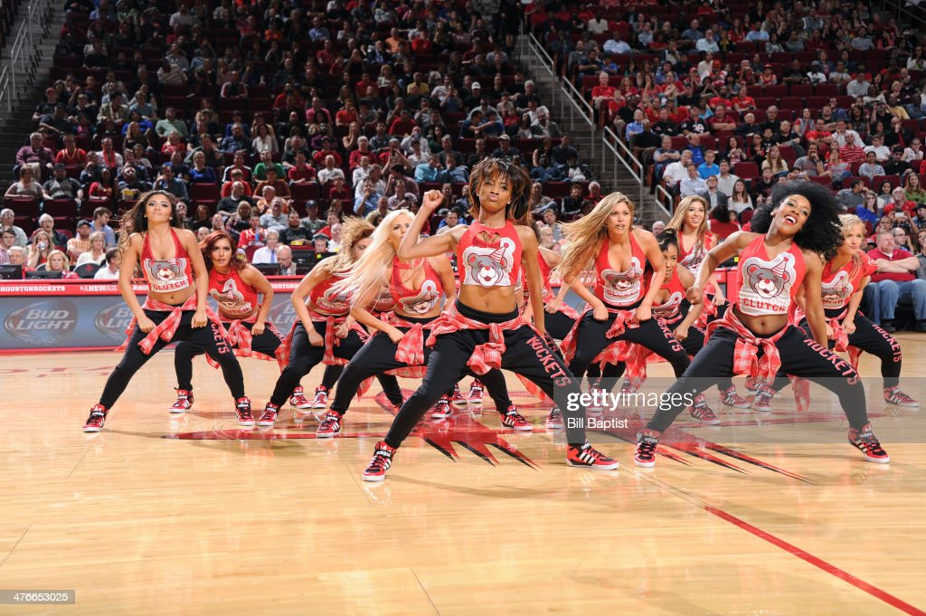 Dance Team of the Houston Rockets perform during the game against the Detroit Pistons on March 1, 2014 at the Toyota Center in Houston, Texas.
