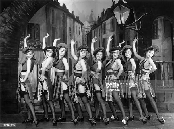 Dance troupe the Windmill Girls performing at the Windmill Theatre London The show is 'Paris by Night Before 1940' From Revudeville No 138 Published...