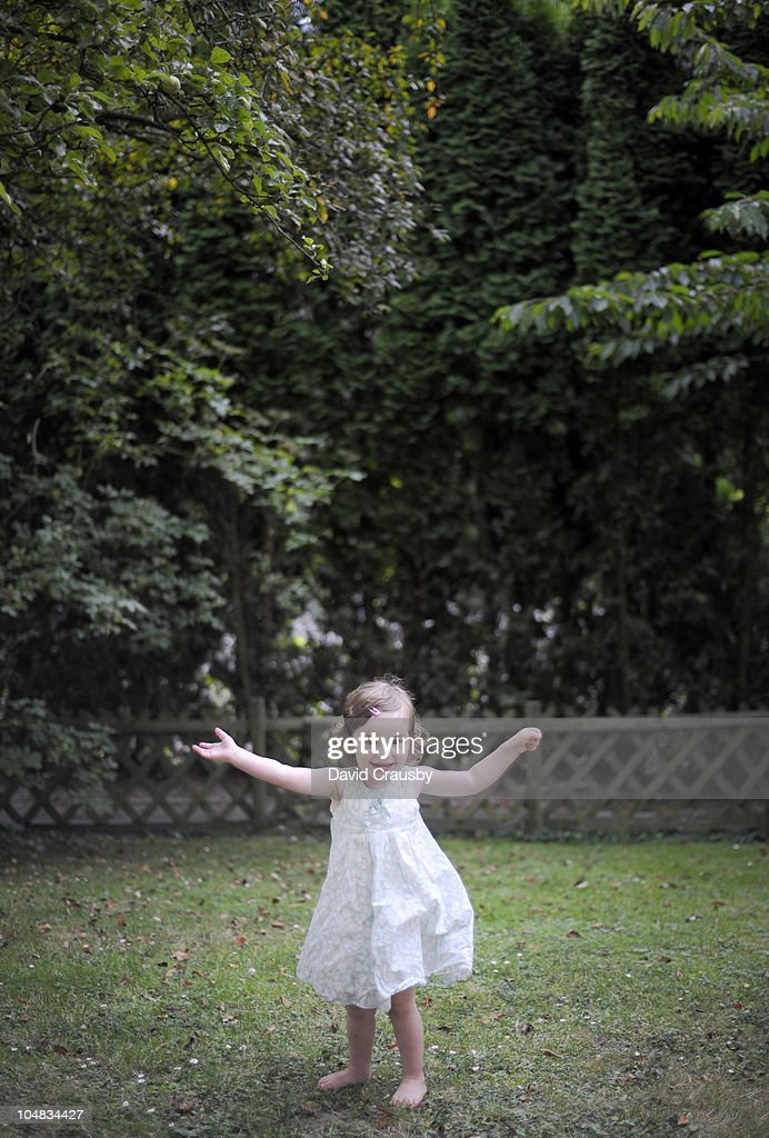 Dance Under an Apple Tree : Stock Photo