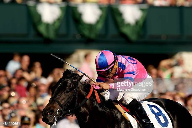 Dance With Fate ridden by Corey Nakatani wins the Toyota Blue Grass Stakes at Keeneland Race Course on April 12 2014 in Lexington Kentucky