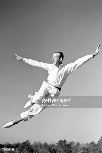 Dancer actor and singer Fred Astaire performs for the camera during a photo session circa 1940 in Los Angeles California