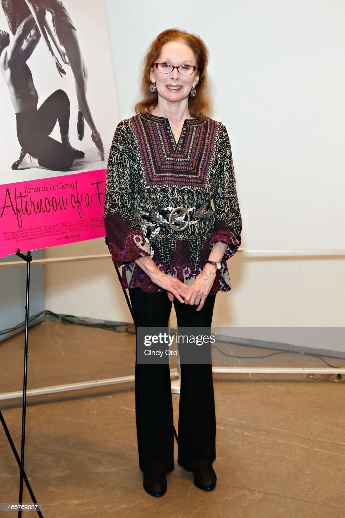 Dancer/ actress Allegra Kent attends the 'Afternoon Of A Faun' screening on February 3, 2014 in New York City.