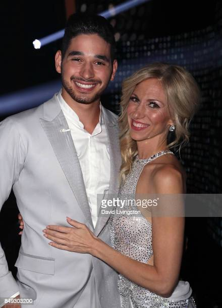 Dancer Alan Bersten and singer Debbie Gibson attend 'Dancing with the Stars' season 25 at CBS Televison City on September 18 2017 in Los Angeles...