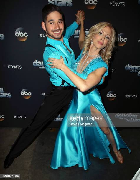 Dancer Alan Bersten and singer Debbie Gibson attend 'Dancing with the Stars' season 25 at CBS Televison City on September 25 2017 in Los Angeles...