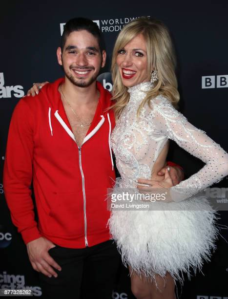 Dancer Alan Bersten and singer Debbie Gibson pose at 'Dancing with the Stars' season 25 finale at The Grove on November 21 2017 in Los Angeles...