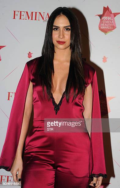 US dancer and actress Lauren Gottlieb attends the 'Femina Awards' ceremony in Mumbai on February 5 2016 AFP PHOTO / AFP / STR