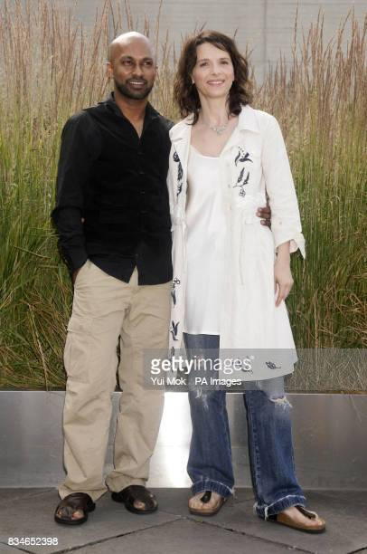 Dancer and choreographer Akram Khan and actress Juliette Binoche attending the launch of the new dance theatre and film collaboration 'Ju' bi lation'...
