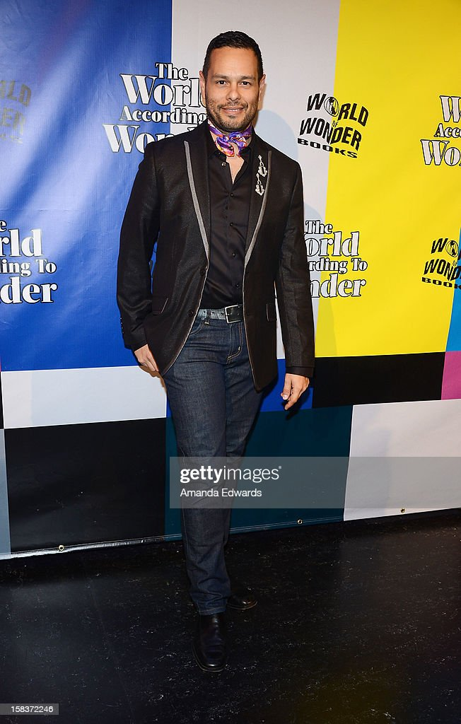 Dancer and choreographer Luis Camacho arrives at the World Of Wonder book release party/birthday bash at The Globe Theatre at Universal Studios on December 13, 2012 in Universal City, California.
