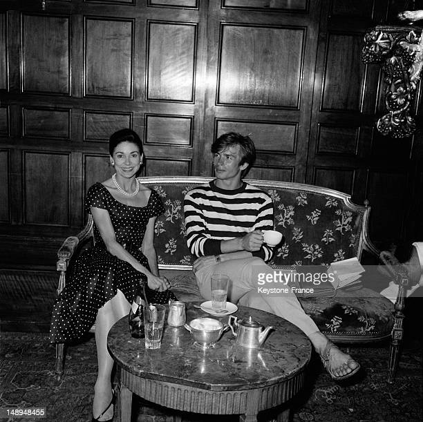 Dancer and choreographer Rudolf Nureev and dancer Dame Margot Fonteyn at the Negresco Hotel on August 13 1963 in Nice France