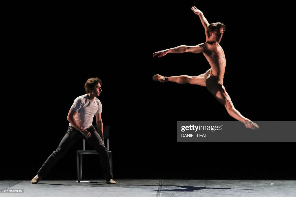 Rehearsal for Ivan Putrov's forthcoming show 'Men in Motion' at the London Coliseum