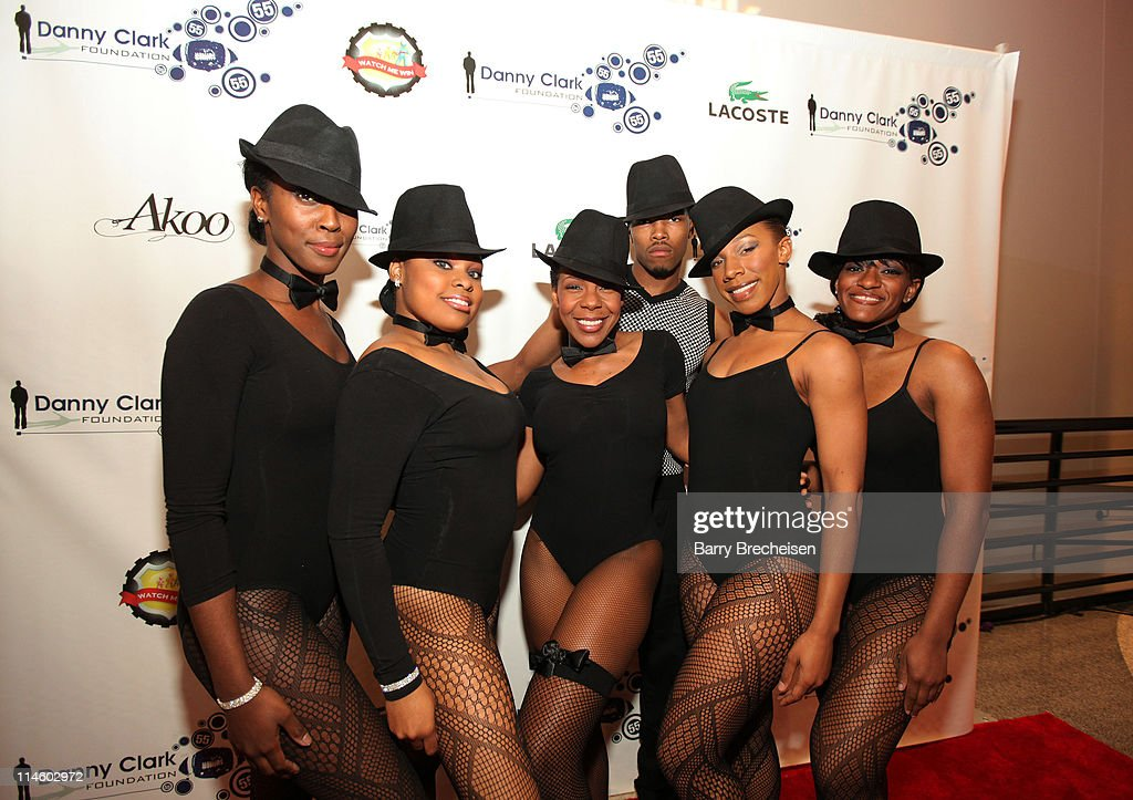 Dancer Andrea Kelly and her dance troupe attend the <a gi-track='captionPersonalityLinkClicked' href=/galleries/search?phrase=Danny+Clark&family=editorial&specificpeople=585740 ng-click='$event.stopPropagation()'>Danny Clark</a> Foundation 2nd Annual Laughs for Lives charity comedy event at Harold Washington Cultural Center on May 7, 2010 in Chicago, Illinois.